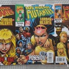 Cómics: LOS NUEVOS MUTANTES. VERDAD O MUERTE. SL COMPLETA DE 3 COMICS. COMICS FORUM 1998. Lote 222427808
