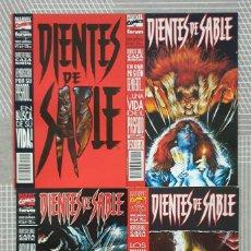 Cómics: DIENTES DE SABLE. CAZA MORTAL. SL DE 4 COMICS. COMICS FORUM 1994. Lote 222465766