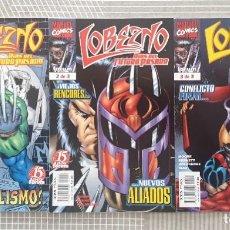 Cómics: LOBEZNO. DIAS DEL FUTURO PASADO. SL COMPLETA DE 3 COMICS. COMICS FORUM 1998. Lote 222528865