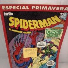 Cómics: SPIDERMAN, FORUM. ESPECIAL PRIMAVERA 1990. Lote 222556487