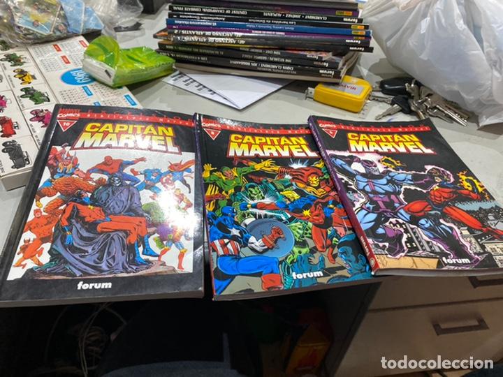 LOTE DE 3 CÓMICS BIBLIOTECA MARVEL CAPITÁN MARVEL (Tebeos y Comics - Forum - Otros Forum)
