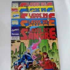 Cómics: LAZOS DE SANGRE 1 AL 5. COMPLETA. X-MEN / VENGADORES. Lote 222841708