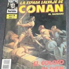 Cómics: LA ESPADA SALVAJE DE CONAN EL BARBARO N 5 SERIE ORO SEGUNDA EDICION. Lote 223007811