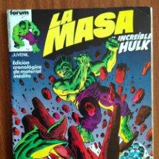 Cómics: LA MASA Nº 7- COMICS FORUM. Lote 223487665