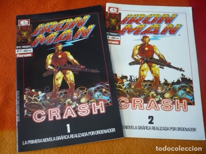 IRON MAN CRASH 1 Y 2 ¡COMPLETA! ( MIKE SAENZ ) ¡MUY BUEN ESTADO! FORUM MARVEL EPIC 7 Y 8 (Tebeos y Comics - Forum - Iron Man)