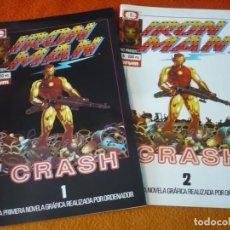 Cómics: IRON MAN CRASH 1 Y 2 ¡COMPLETA! ( MIKE SAENZ ) ¡MUY BUEN ESTADO! FORUM MARVEL EPIC 7 Y 8. Lote 287174038