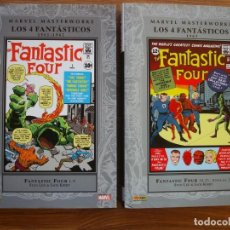 Cómics: LOS 4 FANTÁSTICOS - MARVEL MASTERWORKS 1 Y 2 COMPLETA (FORUM). Lote 223601218