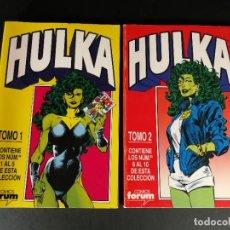 Comics : RETAPADOS FORUM MARVEL HULKA TOMOS 1 Y 2 HULKA NÚMEROS DEL 1 AL 5 Y DEL 6 AL 10 1 2 3 4 5 6 7 8 9 10. Lote 224140617