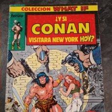 Comics: WHAT IF VOL. 1 - Nº 1 - ¿Y SI CONAN VISITARA NEW YORK HOY? - FORUM. Lote 224600105