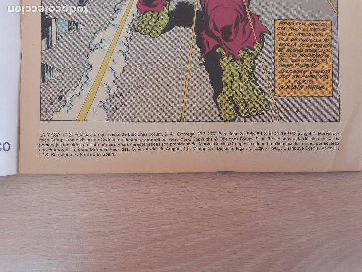 Cómics: La Masa Nº 2. Forum 1983 - Foto 3 - 224748031