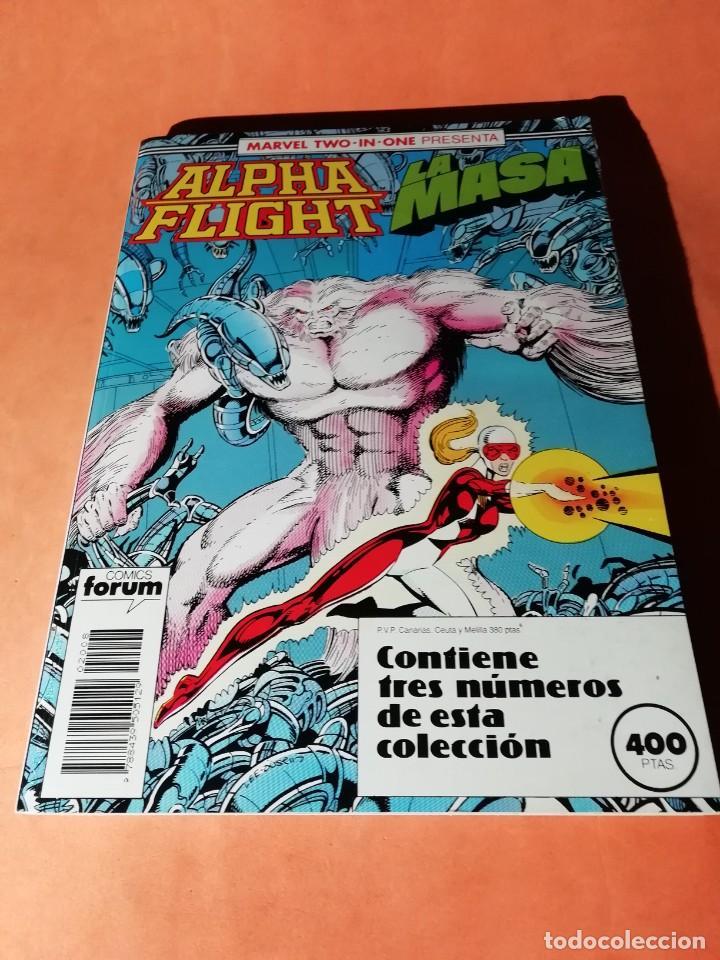 ALPHA FLIGHT. LA MASA . MARVEL TWO IN ONE. Nº 48 Y 50 TOD MCFARLANE. RETAPADO. FORUM (Tebeos y Comics - Forum - Alpha Flight)