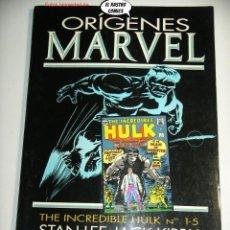 Cómics: ORIGENES MARVEL Nº 5, EL INCREIBLE HULK, ED. FORUM AÑO 1992, TOMO PRESTIGE. Lote 225327891