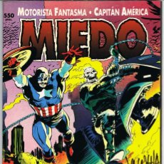 Cómics: MOTORISTA FANTASMA Y CAPITAN AMERICA. MIEDO POR LEE WEEKS Y AL WILLIAMSON. Lote 225468381