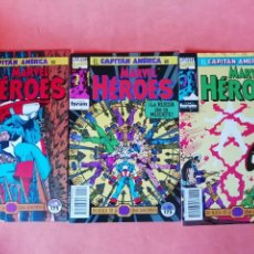 Cómics: CAPITAN AMERICA. EN BUSCA DE LA GEMA SANGRIENTA. MARVEL HEROES 51,52 Y 53. FORUM. Lote 225496806