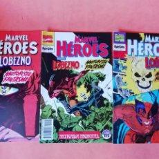 Cómics: LOBEZNO & MOTORISTA FANTASMA. MARVEL HEROES. Nº 63,64,65. ACTOS DE VENGANZA. FORUM. Lote 225499770