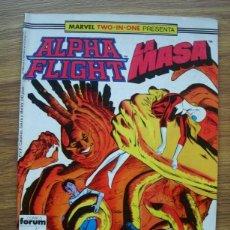 Comics : ALPHA FLIGHT VOL. 1 Nº 43 MARVEL TWO-IN-ONE CON LA MASA (FORUM). Lote 225714995
