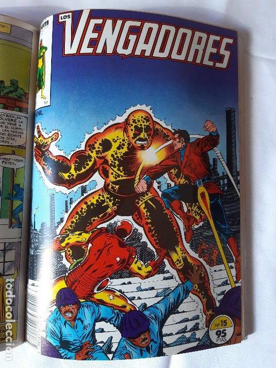 Cómics: COMIC LOS VENGADORES TOMO CON 5 NUMEROS 11, 12, 13, 14 Y 15. - Foto 8 - 225747375