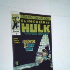 Cómics: EL INCREIBLE HULK - VOLUMEN III - NUMERO 7 - FORUM - BUEN ESTADO -GORBAUD -CJ 124. Lote 225753320
