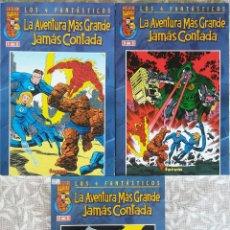 Cómics: LOS 4 FANTASTICOS LA AVENTURA MAS GRANDE JAMAS CONTADA COMPLETA. Lote 225982980