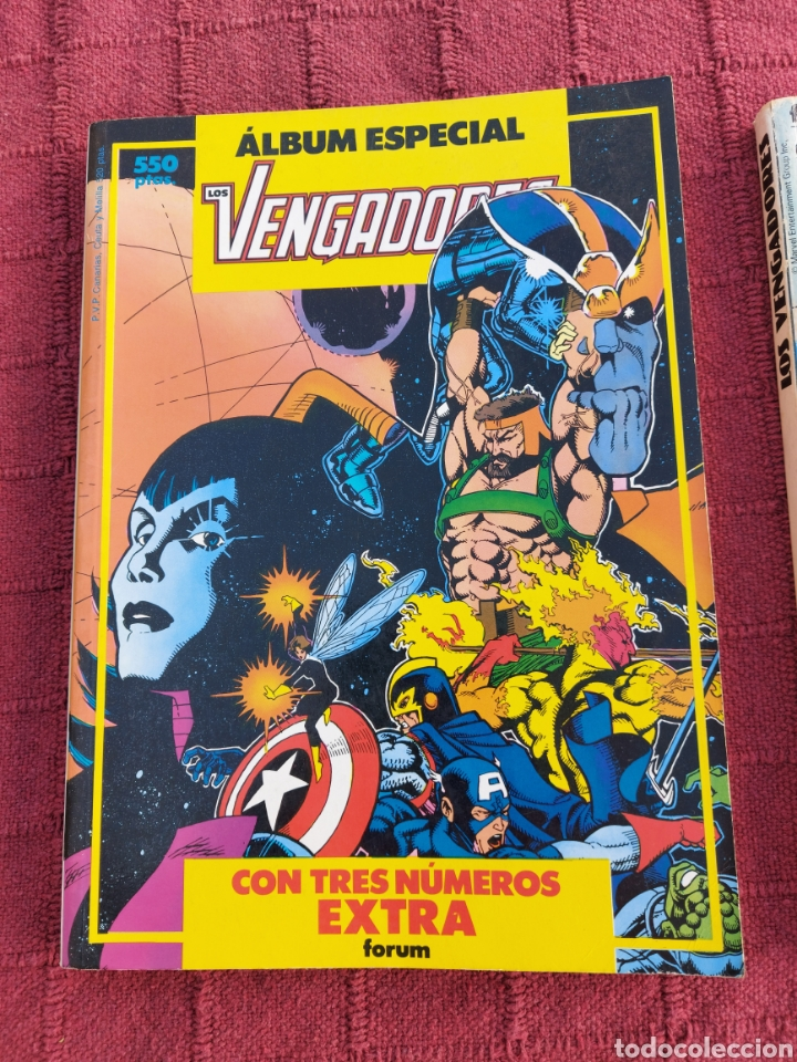 Cómics: COMIC LOS VENGADORES LOTE DE DOS RETAPADOS/SUPER HEROES COMICS FORUM/THANOS/HULK/CAPITÁN AMÉRICA - Foto 3 - 226018505