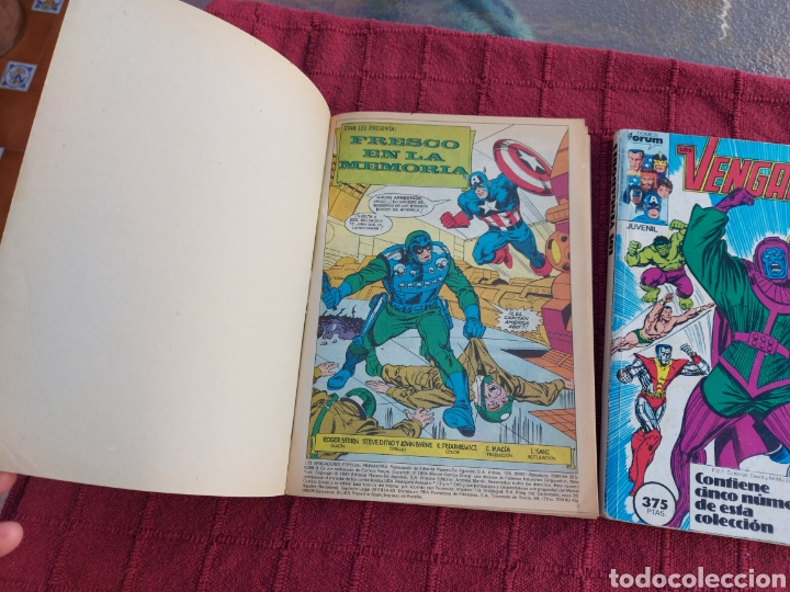 Cómics: COMIC LOS VENGADORES LOTE DE DOS RETAPADOS/SUPER HEROES COMICS FORUM/THANOS/HULK/CAPITÁN AMÉRICA - Foto 7 - 226018505