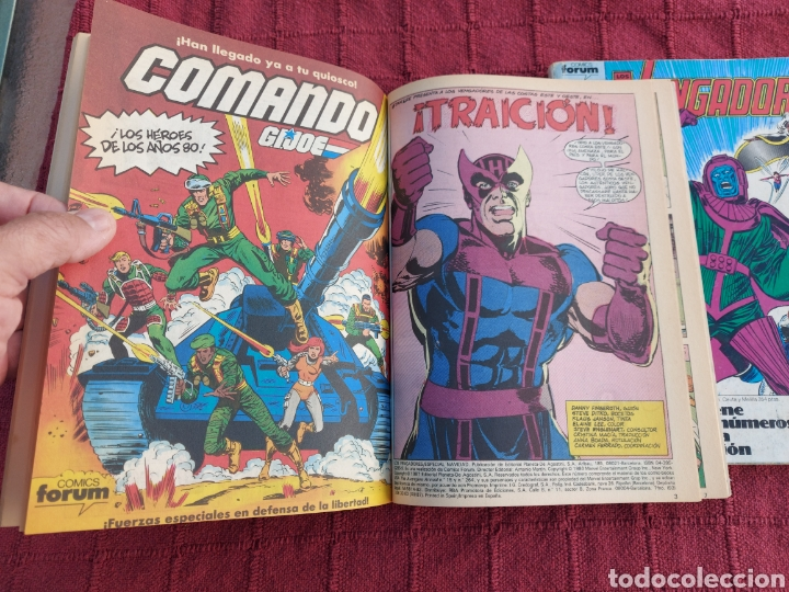 Cómics: COMIC LOS VENGADORES LOTE DE DOS RETAPADOS/SUPER HEROES COMICS FORUM/THANOS/HULK/CAPITÁN AMÉRICA - Foto 9 - 226018505