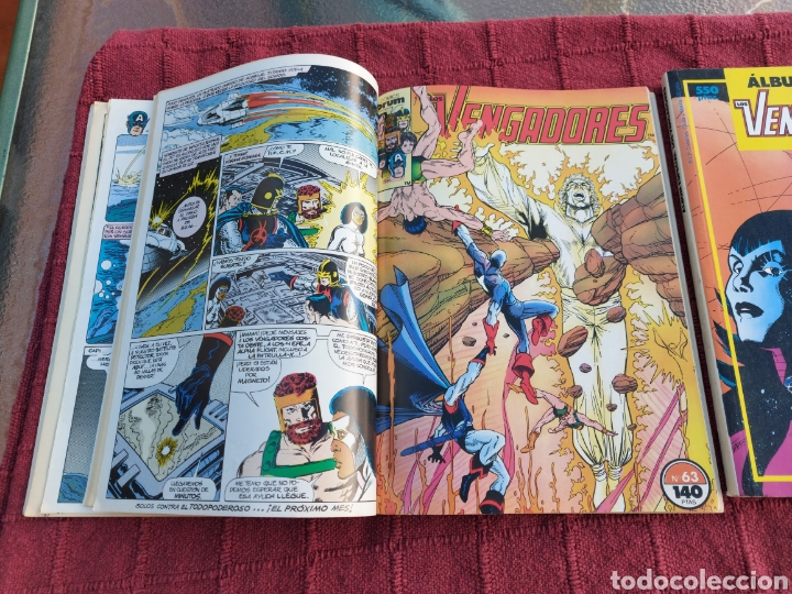 Cómics: COMIC LOS VENGADORES LOTE DE DOS RETAPADOS/SUPER HEROES COMICS FORUM/THANOS/HULK/CAPITÁN AMÉRICA - Foto 13 - 226018505