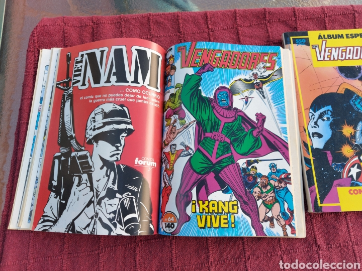 Cómics: COMIC LOS VENGADORES LOTE DE DOS RETAPADOS/SUPER HEROES COMICS FORUM/THANOS/HULK/CAPITÁN AMÉRICA - Foto 14 - 226018505