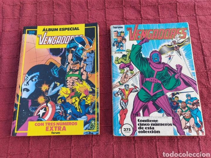 COMIC LOS VENGADORES LOTE DE DOS RETAPADOS/SUPER HEROES COMICS FORUM/THANOS/HULK/CAPITÁN AMÉRICA (Tebeos y Comics - Forum - Vengadores)