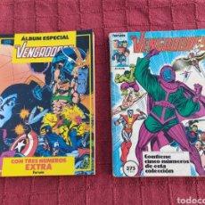 Cómics: COMIC LOS VENGADORES LOTE DE DOS RETAPADOS/SUPER HEROES COMICS FORUM/THANOS/HULK/CAPITÁN AMÉRICA. Lote 226018505