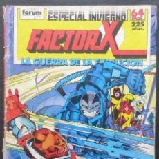 Cómics: COMIC FACTOR X,ESPECIAL INVIERNO,MARVEL COMICS,FORUM! LA GUERRA DE LA EVOLUCION. Lote 226382930