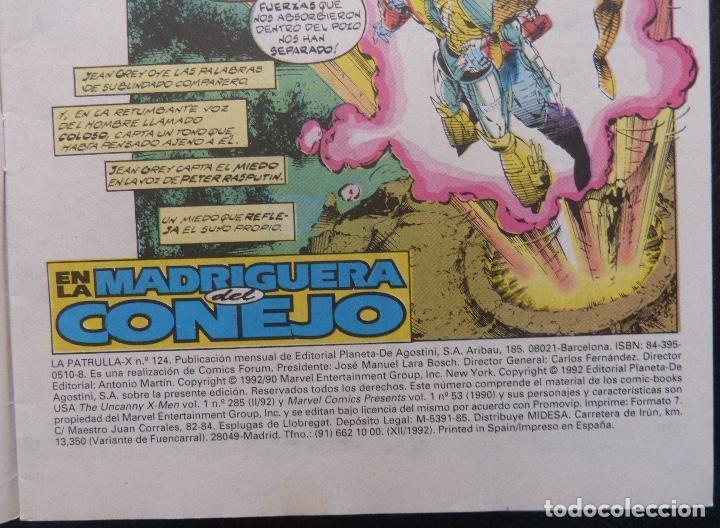 Cómics: Comic Patrulla X,Marvel Comics,Forum, Nº 124,Año 1992, - Foto 4 - 226656275