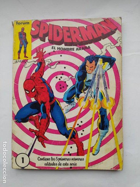 SPIDERMAN EL HOMBRE ARAÑA. RETAPADO. NUMEROS 1 AL 5. COMICS FORUM. TDK561 (Tebeos y Comics - Forum - Retapados)