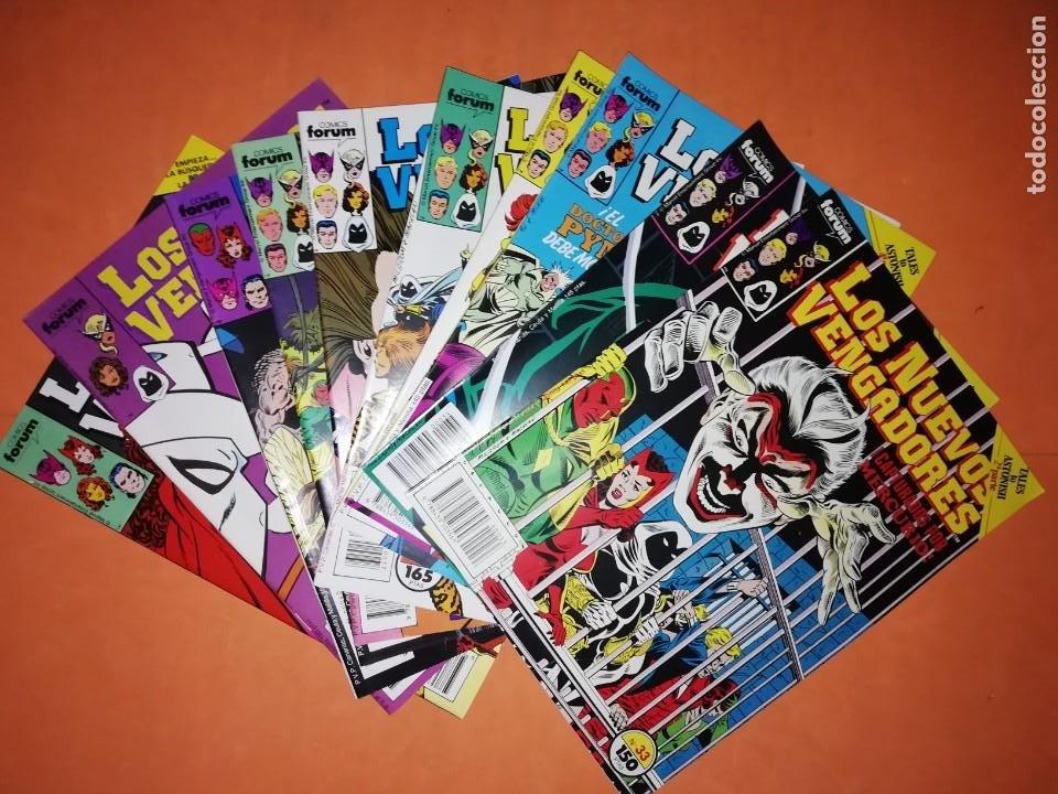 LOS NUEVOS VENGADORES. LOTE DE 10 NUMEROS. DEL 33 AL 42 . FORUM. (Tebeos y Comics - Forum - Vengadores)