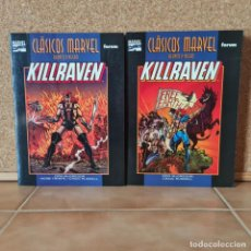 Comics : 2 TOMOS CLÁSICOS MARVEL: KILLRAVEN - MCGREGOR RUSSELL - FORUM. Lote 227207345