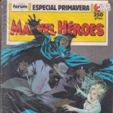 "Cómics: CÓMIC "" MARVEL HEROES "" Nº ESPECIAL PRIMAVERA MARVEL / FORUM 64 PGS.. Lote 227758910"
