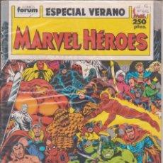 "Cómics: CÓMIC "" MARVEL HEROES "" Nº ESPECIAL VERANO MARVEL / FORUM 64 PGS.. Lote 227759115"