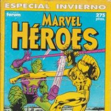 """Cómics: CÓMIC """" MARVEL HEROES """" Nº ESPECIAL INVIERNO 2 MARVEL / FORUM 64 PGS.. Lote 227759585"""