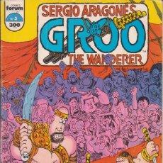 Cómics: COMIC GROO THE WANDERER Nº 3 ESP. 48 PGS. CUB. CARTÓN ED. PLANETA / FORUM. Lote 227892945