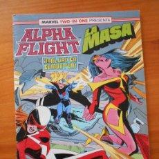 Comics: ALPHA FLIGHT Nº 61 - LA MASA - MARVEL TWO-IN-ONE - FORUM (B1). Lote 228125330