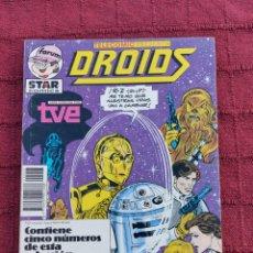 Cómics: DROIDS,EWOKS,STAR WARS, LA GUERRA DE LAS GALAXIAS, R2D2, C3PO,COMICS SERIE TVE FORUM. Lote 228581310