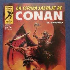 Comics: LA ESPADA SALVAJE DE CONAN EL BARBARO VOL. 1 # 34 (FORUM) - PRIMERA EDICION 1985. Lote 228910065