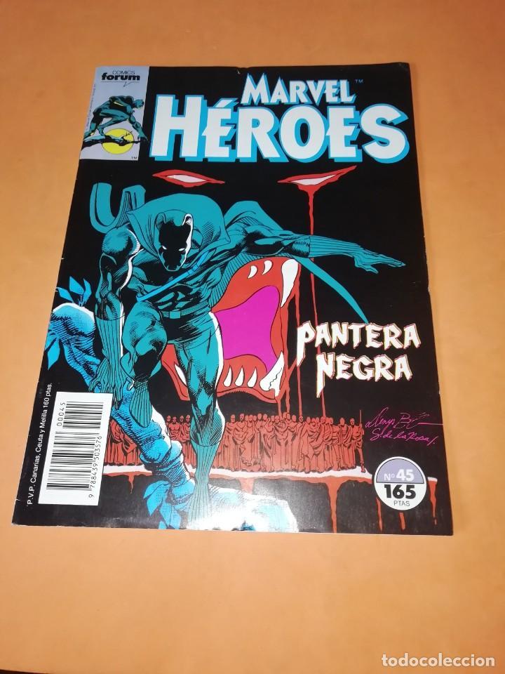 MARVEL HEROES. Nº 45. PANTERA NEGRA. FORUM GRAPA. (Tebeos y Comics - Forum - Otros Forum)