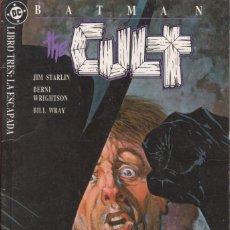 """Cómics: COMIC DC """" BATMAN THE CULT """" LIBRO 3 FRMTO. PRESTIGIO 64 PAGS. ED. ZINCO 1989. Lote 229443835"""