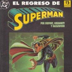 """Cómics: CÓMIC DC TOMO """" EL REGRESO DE SUPERMAN """" LIBRO ESP. Nº500 USA FRMTO. PRESTIGIO 66 PGS ED. ZINCO 1993. Lote 229709765"""
