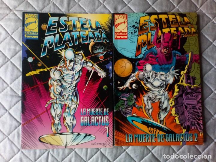 ESTELA PLATEADA LA MUERTE DE GALACTUS 2 TOMOS COMPLETA FORUM (Tebeos y Comics - Forum - Silver Surfer)