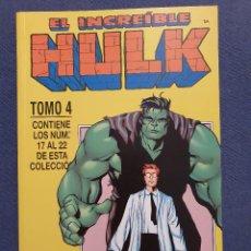 Comics: EL INCREIBLE HULK VOL. 3 RETAPADO 4 - CONTIENE Nº. 17-18-19-20-21-22 (FORUM) - 1999. Lote 229788600
