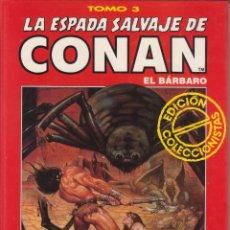 Cómics: CÓMIC TOMO 3 LA ESPADA SALVAJE DE CONAN ED. COLECCCIONISTAS FORUM 192 PGS. TAPA DURA. Lote 230100585
