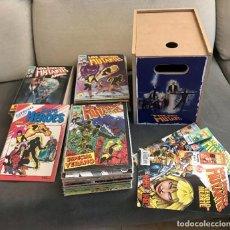 Comics : NUEVOS MUTANTES COMPLETA 65 NÚMEROS + 3 EXTRAS + MINI SERIE + CAJA MADERA GUARDA COMICS MARVEL. Lote 230679585
