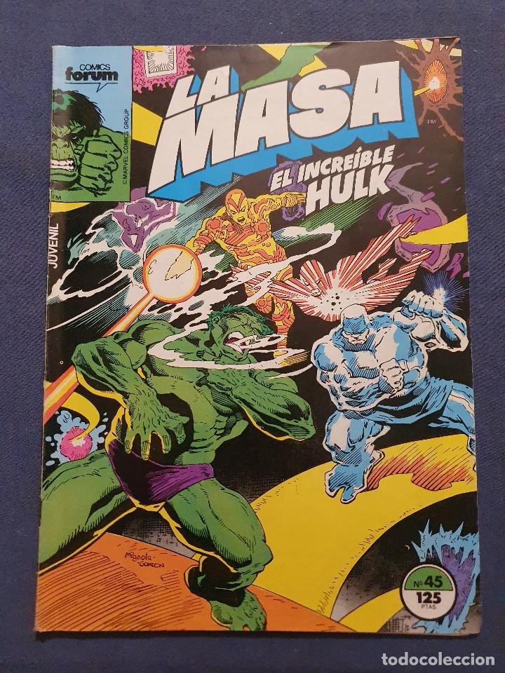 LA MASA EL INCREIBLE HULK VOL 1 # 45 (FORUM) - 1986 (Tebeos y Comics - Forum - Hulk)
